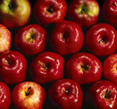 Hintergrundbilder Textur Äpfel Rot Tropfen Lebensmittel