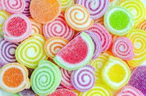 Fotos Textur Süßware Marmelade Bunte Lebensmittel