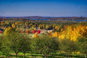 Hintergrundbilder Vereinigte Staaten Landschaftsfotografie Herbst Michigan Bäume Leelanau Natur