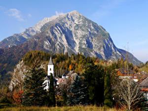 Fotos Österreich Gebirge Wälder Herbst Gebäude Purgg Styria Natur