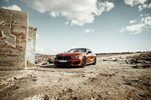 Images BMW Red Coupe 2018 8-Series M850i xDrive G15 Cars