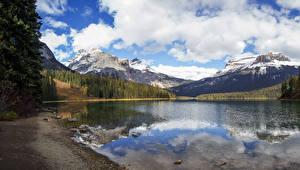 Bilder Kanada Park Gebirge See Wälder Küste Yoho National Park Natur
