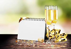 Bilder Champagner Vorlage Grußkarte Notizblock Weinglas 2 Lebensmittel