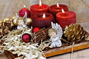 Bilder Neujahr Kerzen Engel Zapfen