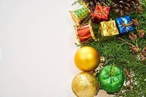 Hintergrundbilder Neujahr Feiertage Geschenke Kugeln