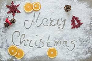 Hintergrundbilder Neujahr Apfelsine Puderzucker Englisch