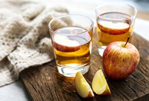 Picture Closeup Juice Apples Highball glass Food