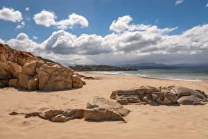 Hintergrundbilder Küste Meer Steine Himmel Strand Sand Wolke Natur