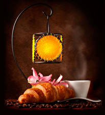Wallpapers Croissant Coffee Lantern Cup Grain