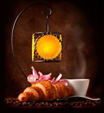 Bilder Croissant Kaffee Laterne Tasse Getreide Lebensmittel