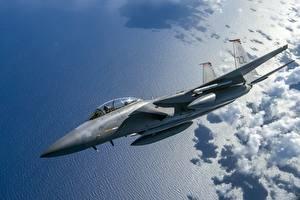 Photo Airplane Fighter Airplane Flight American USAF F-15C Eagle Aviation