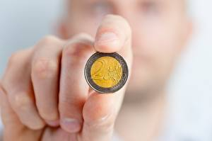 Wallpapers Fingers Coins Money Euro Closeup Hands