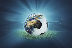 Pictures Footbal Ball Earth