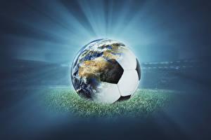 Fotos Fußball Ball Erde sportliches