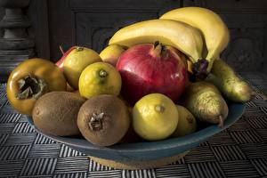 Picture Fruit Bananas Pomegranate Lemons Food