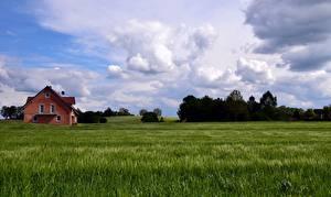 Bilder Deutschland Himmel Felder Bayern Wolke Natur