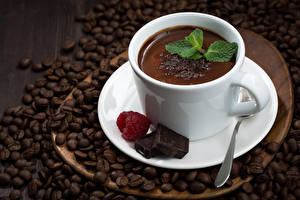 Picture Hot chocolate drink Coffee Chocolate Raspberry Grain Cup Food