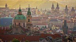 Image Building Prague Czech Republic Domes Cities