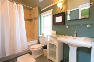 Wallpapers Interior Design Bathroom Lamp