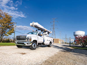 Picture International Lorry White Metallic 2018 CV Day Cab Utility auto