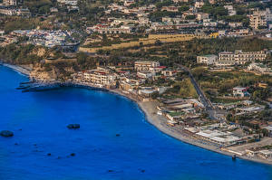 Pictures Italy Coast Building From above Ischia Citara Cities