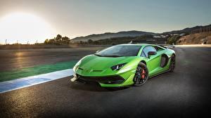 Wallpapers Lamborghini Yellow green 2018 Aventador SVJ
