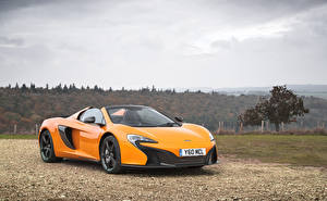 Fonds d'écran McLaren Métallique Jaune Roadster 2014-16 650S Spyder Voitures