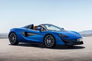 Fonds d'écran McLaren Roadster Bleu 2017 570S Spider Worldwide