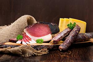 Hintergrundbilder Fleischwaren Schinken Wurst Käse das Essen