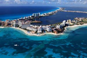 Fotos Mexiko Meer Gebäude Küste Cancun Städte