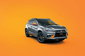 Wallpapers Mitsubishi Colored background Grey Metallic 2017-18 RVR Active Gear automobile