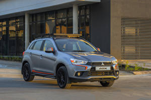 Hintergrundbilder Mitsubishi Grau 2018 ASX  Sport Autos