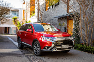 Images Mitsubishi Red Metallic Crossover 2018 Outlander Exceed Cars