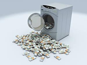 Fotos Geld Geldscheine Dollars Viel