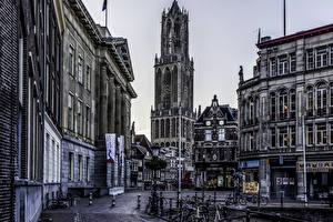 Pictures Netherlands Building Street Bicycle Utrecht Cities