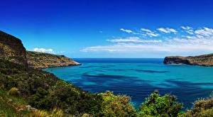 Pictures New Zealand Coast Bay Cove Wainui Canterbury Nature