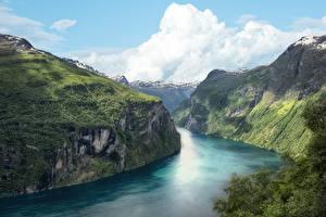 Hintergrundbilder Norwegen Felsen Fjord Natur