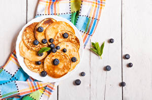 Image Hotcake Blueberries Boards Plate