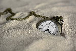 Wallpapers Clock Pocket watch Clock face Closeup Sand