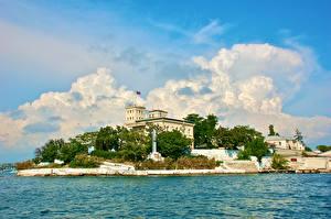 Wallpaper Russia Crimea Building Berth Monuments Yalta