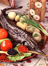 Hintergrundbilder Meeresfrüchte Fische - Lebensmittel Kaviar Kartoffel das Essen