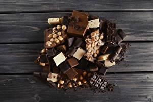 Bilder Süßware Schokolade Nussfrüchte Bretter