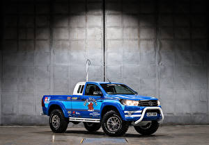 Pictures Toyota Tuning Pickup Metallic Blue 2017-18 Hilux Bruiser Cars