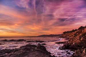 Fotos Vereinigte Staaten Küste Sonnenaufgänge und Sonnenuntergänge Wasserwelle Himmel Minnesota Natur