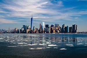 Bilder Vereinigte Staaten Wolkenkratzer New York City Manhattan Megalopolis