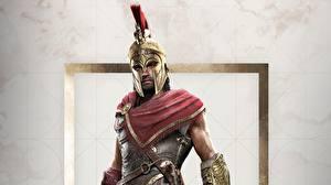 Bilder Krieger Mann Assassin's Creed Assassin's Creed Odyssey Helm Spiele