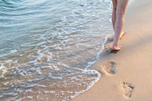 Hintergrundbilder Wasser Sand Bein Natur