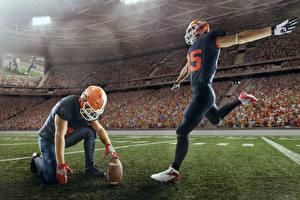 Bilder American Football Zwei Uniform Ball