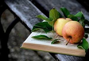 Hintergrundbilder Äpfel Bretter Buch Blatt