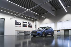 Sfondi desktop Audi Blu colori 2017-18 SQ7 ABT Vossen Auto